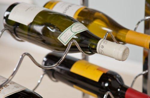 Southern Enterprises Bedford Wine Storage Pub Table, Black