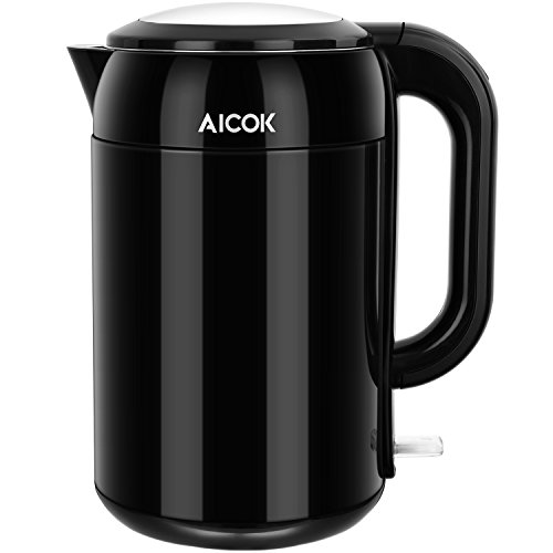 Aicok Electric Kettle Double Wall Cool Touch, S...