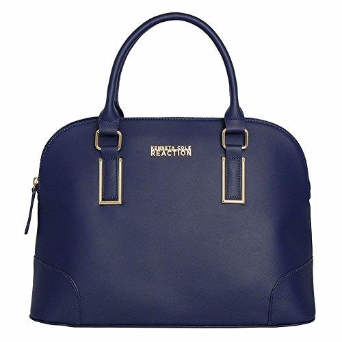 Kenneth Cole Reaction KN1597 Dome Women's Purse, Top Handle Satchel Handbag (MARINA)