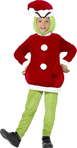 [The Grinch Costume Green Medium Age 7-9] (Child Grinch Costumes)