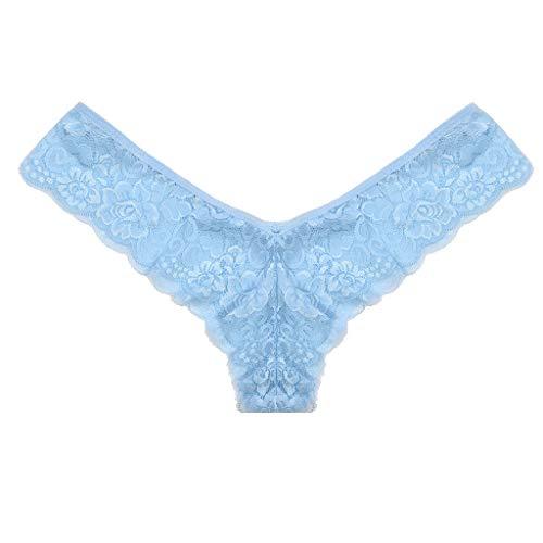 Miuye yuren Sexy Women Lace Flowers Low Waist Nightgown Panties G-String Lingerie Thongs Sleepwear