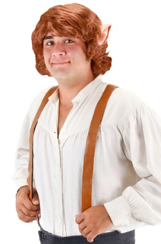 elope Bilbo Baggins Wig With Ears, Brown, One -