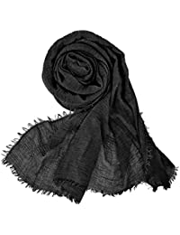 ef24b948b Women Soft Cotton Hemp Scarf Shawl Long Scarves, Travel Sunscreen Pashmina  Fancy Stylish Hijab Scarf