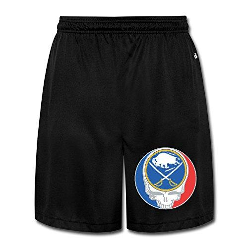 SYYSP Men's Skull Buffalo Hockey Shorts Jogger Pants Color Black Size 3X