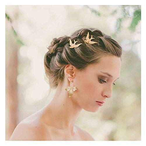 Olbye Bird Hair Clip Dainty Gold Hair Pin Hair Accessories For Women and Girls 2 Pcs
