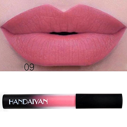Hunputa Hot Sale! Sexy Trendy Colors Waterproof Long Lasting Velvet Matte Liquid Lipstick Makeup Lip Gloss, Makeup Bloggers Favorite -