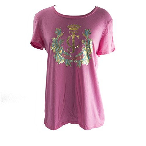 Juicy Couture Highlighter Pink Cotton Cameo Logo Short Sleeve T-Shirt Tee Size ()