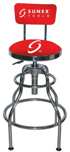 (Sunex 8516 Hydraulic Shop Stool, Chrome)