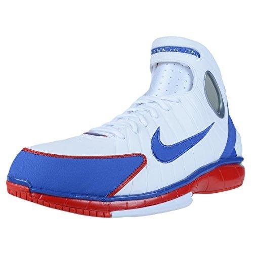 Nike Mens Air Zoom Huarache 2K4 White/Red/Metalic Silver 308475-100 (Size: 10.5) (Zoom Huarache)