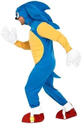 Sonic The Hedgehog Costume Men S Amazon Co Uk Toys Games
