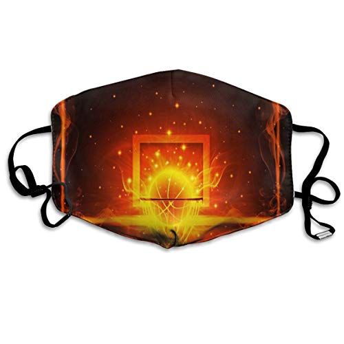 Anti Dust Mask Basketball And Fire Surgical Mask Winter Healthy Windproof For Men Halloween -