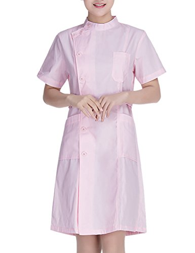 Laboratoire Uniforme Professionnel Courtes THEE Blanche Mdical Blouse Infirmire Manches Chimie Rose fEE0dwq
