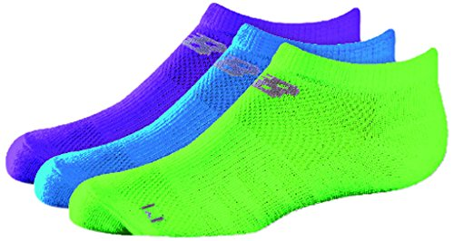 New Balance Kids Unisex 3 Pack No Show Socks Mehrfarbig - Assorted 1A