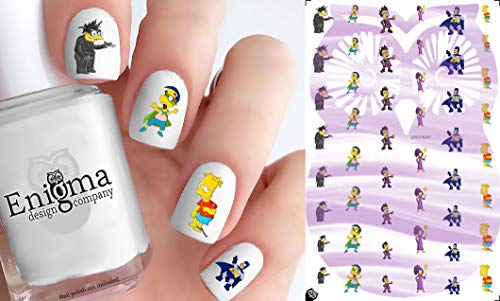 Simpsons Halloween Accessories (Clear Water-Slide Nail -