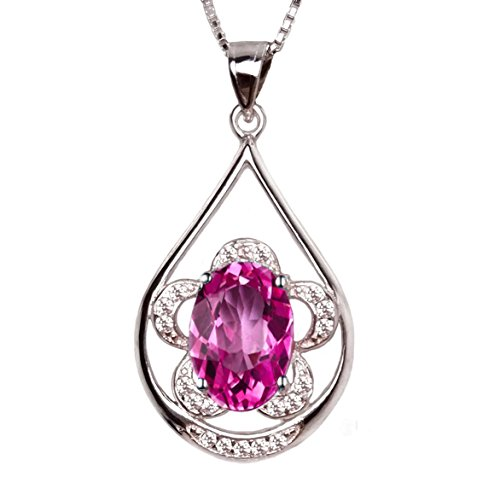 Pink Natural Stone Necklace - 5
