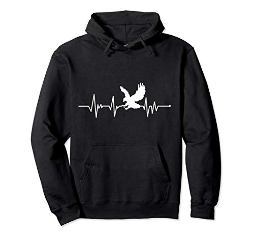 American Eagle USA Heartbeat Great Gift Pullover Hoodie from American Eagle Gift for Men Women Kids