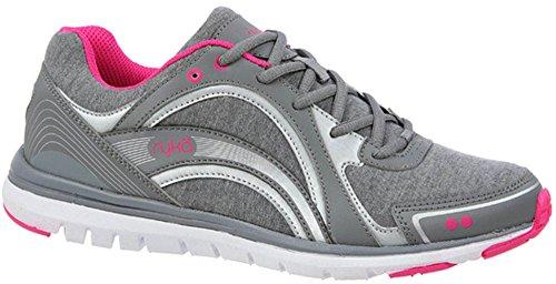 Grey Ryka Aries Shoe Silver Women's Pink Walking 1OxO0qvw
