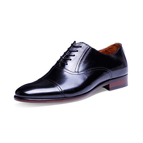 Hombre Negro Eu Estilo Negro Zapatos Hombres Tamaño Oxford color 46 Cordones Para Cuero Con De Formal Zhrui 6BHawqAYA