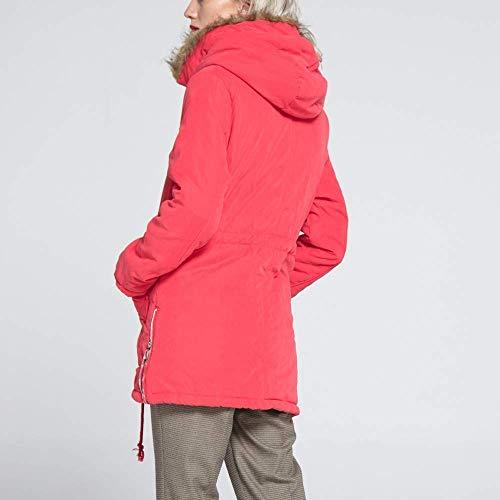 taille homme longues pastèque pour Sweat hiver chaud capuche à manches L couleur Zhrui rouge qn7nwxTYIa