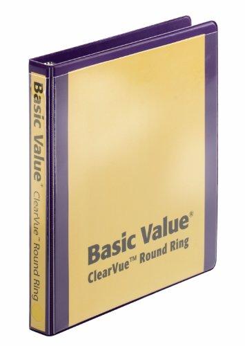 (Cardinal BasicValue ClearVue Round Ring Binder, 1 Inch Capacity, Purple (01257))