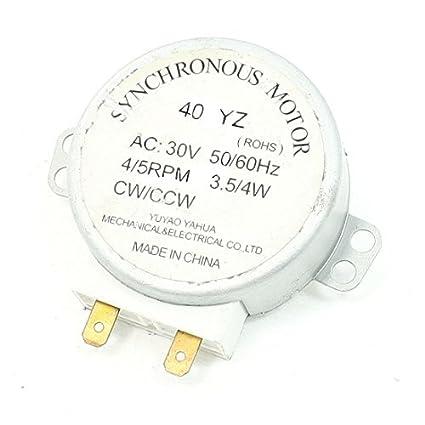 eDealMax AC 30V 3.5W / 4W 4/5 rpm CW/CCW del horno ...