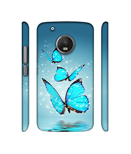 Casotec Flying Butterflies Design 3D Printed Hard Back Case Cover for Motorola Moto G5 Plus