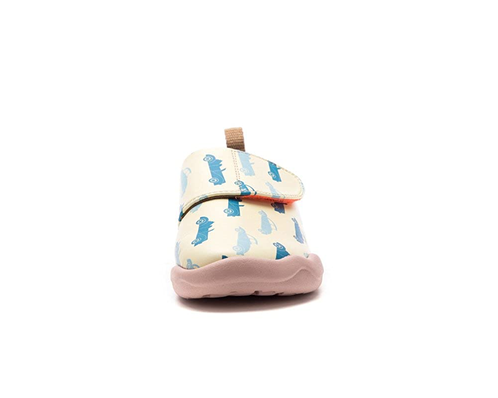 UIN Kids Race Driver Painted Leather Shoe Blue Little Kid
