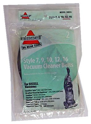 "Bissell Homecare International 32074 Bissell Style ""7"" Replacement Vacuum Belt, 2-Pack"