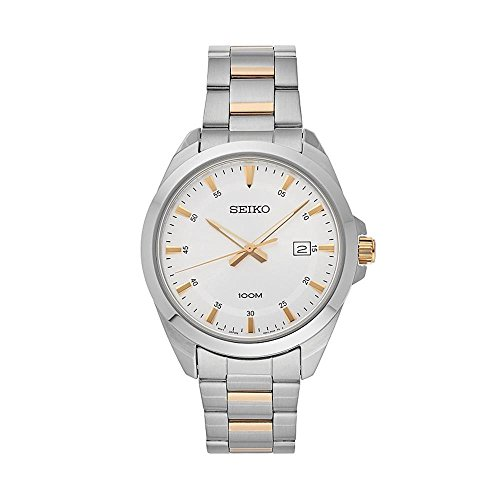 Seiko-Mens-Silver-Dial-Stainless-Steel-Watch-with-Date