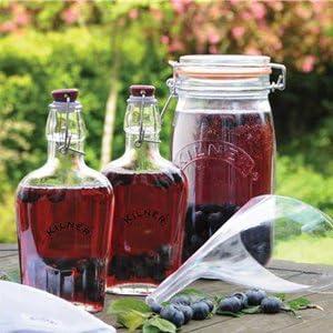 How To Make Sloe Gin >> Kilner 8 Piece Sloe Gin Gift Set Sloe Gin Making Kit Kilner Sloe Gin Bottle Jar Set
