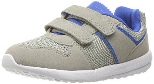 Image of Carter's Boys' Albert Sneaker, Grey/Blue, 5 M US Toddler