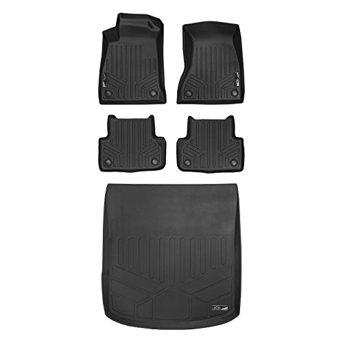 MAX LINER A0313/B0313/D0313 Custom Fit Floor Mats 2 Cargo Liner Behind 2nd Row Black for 2018-2019 Audi A5 / S5 (Sedan or Sportback)