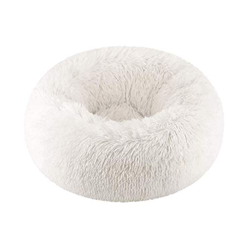 Vivi Bear Cat Bed Dog Bed Round pet nest Extra Soft Comfortable Cute,Cat Cushion Bed Washable,Oval Donut Nesting Cave…