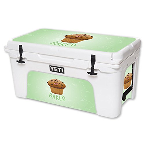 MightySkins Skin For YETI 65 qt Cooler - Baked | Protective, Durable, and Unique Vinyl Decal wrap cover | Easy To Apply, Remove, and Change Styles | Made in the USA by MightySkins