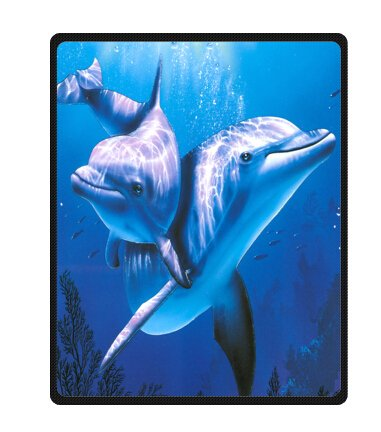 Dolphin Sea Fleece Blankets and throws 40 X 50 inch (Large)