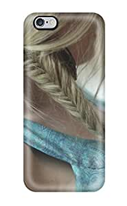 Awesome Hair Braid Flip Case With Fashion Design For Iphone 6 Plus