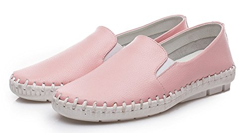 Women's Aisun Slip Daily Low Heels Loafers Top Pink On Wedge axF6BdqwF