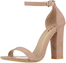 b1063d5e526 Huiyuzhi Womens Chunky Ankle Strappy Sandal Pointed Toe High Heels ...