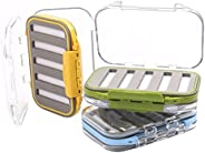 Maxcatch Waterproof Fly Box Double-Sided Fly Fishing Box Slit Foam 3 Pieces
