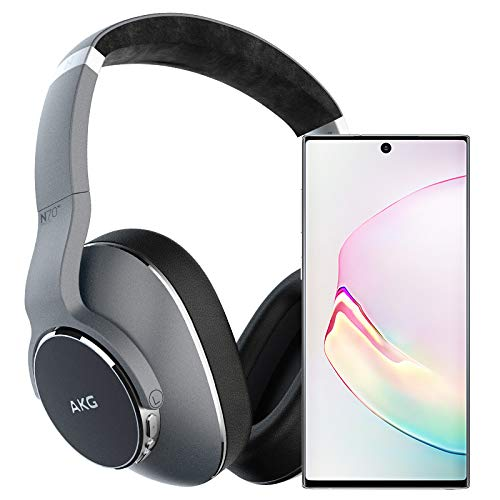 Samsung Galaxy Note 10 Factory Unlocked Cell Phone with 256GB (U.S. Warranty), Aura White/ Note10 w/AKG N700NC Headphones