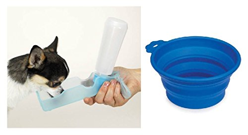 Guardian Gear Small Dog Travel Set Portable Handi Drink Water Bottle & Food Bowl Choose ()