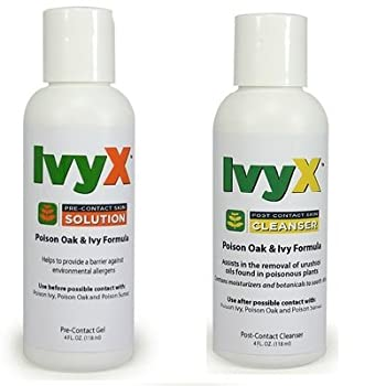 Coretex Products Ivyx Pre-Contact Solution & Post-Contact Skin Cleanser 4oz Bottle