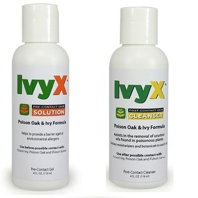 Coretex Products Ivyx Pre-Contact Solution & Post-Contact Skin Cleanser 4oz Bottle (Ivy Block)