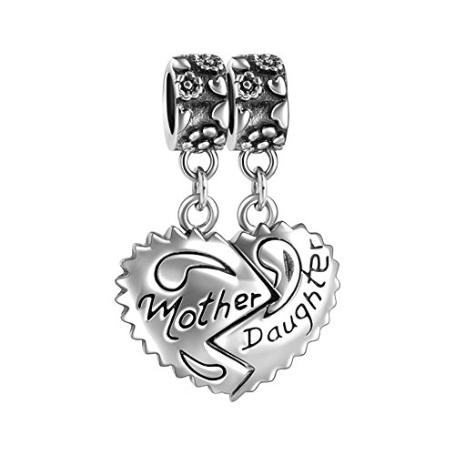 SOUFEEL 925 Sterling Silver Fit European Bracelets Mother Daughter Dangle Charm European Bracelets Compatible