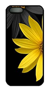 Simple Flower Polycarbonate Hard iPhone 5s and iPhone 5 Case Cover - Black