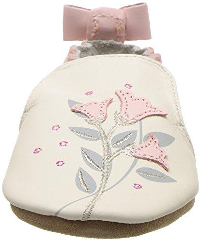 Robeez Girls' Rosealean Crib Shoe, Rosealean Cream, 6-12 Months M US Infant