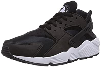Nike Women's Air Huarache Run Sneakers, Black/Black-White, 5.5 US