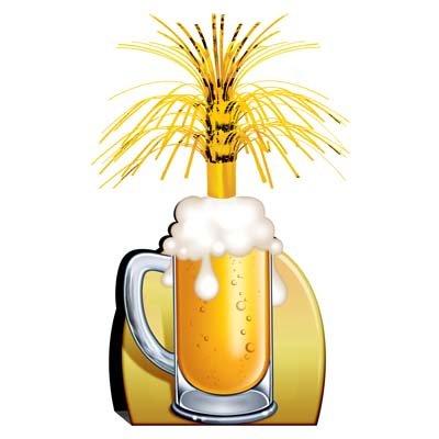 Beer Mug Centerpieces (Beistle 57358 Beer Mug Centerpiece, 15-Inch)