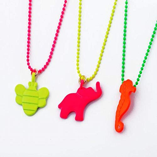 Tony Jeans Neon Candy Color Animal Women's Necklace N704