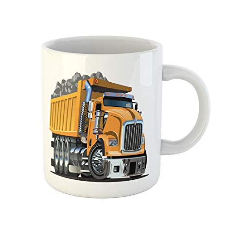 Topyee 11 Oz Coffee Mug Cartoon Dump Truck Available Format Separated By Groups and Layers for Easy Edit Ceramic Tea Cup Mugs Birthday Holiday Gift or Souvenir for Family Friends from Topyee